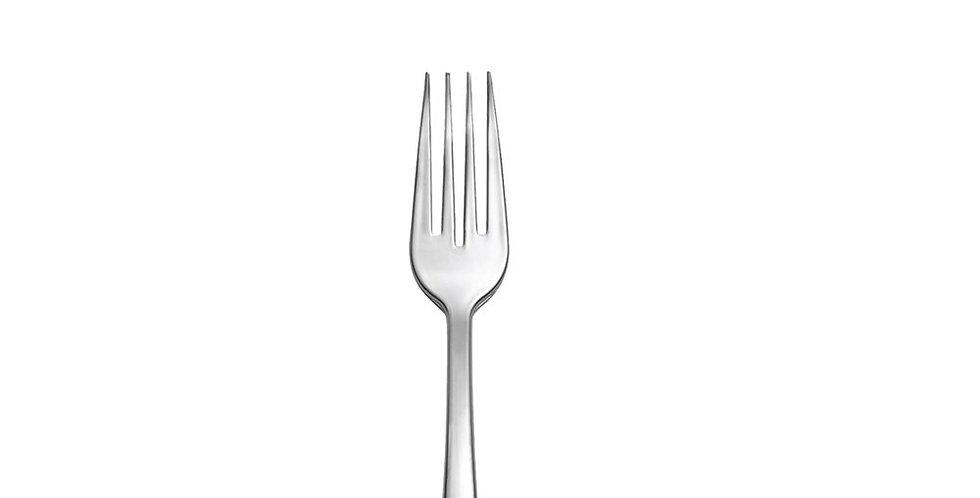Disposable Dessert Fork Goldplast Nickel, Nickel PS, 140mm