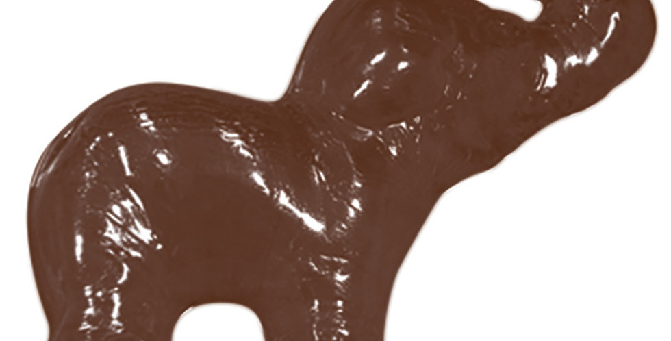 3D Elephant Mold Martellato, Thermoformed Plastic, 1+1 pcs, 110x95x14mm