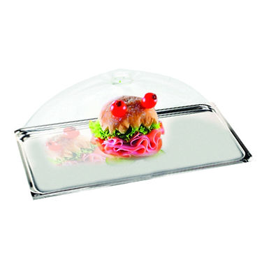 Buffet Tray, with Lid, GN1/1, Inox, 53x32.5x2cm
