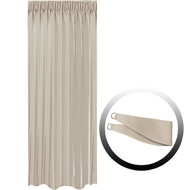 Blackout Curtain with 1 Tie, Light Brown, 144x290cm