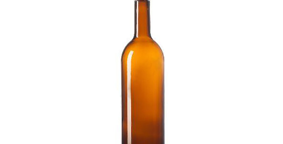 Bottle Bordolese STD, Glass, Amber, 750ml