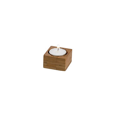 Candle Holder Leone, Bamboo, Natural, 6 pcs, 5x5x3cm
