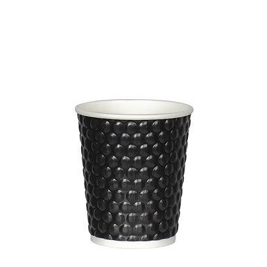 Disposable Cup, White & Bubble Black, 8oz, 236ml