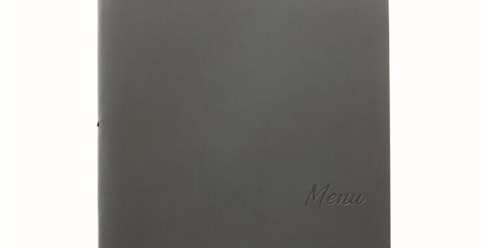 Menu Holder A4 Leone Lisbona, PP, Dark Grey, 1 pc, 25x32cm