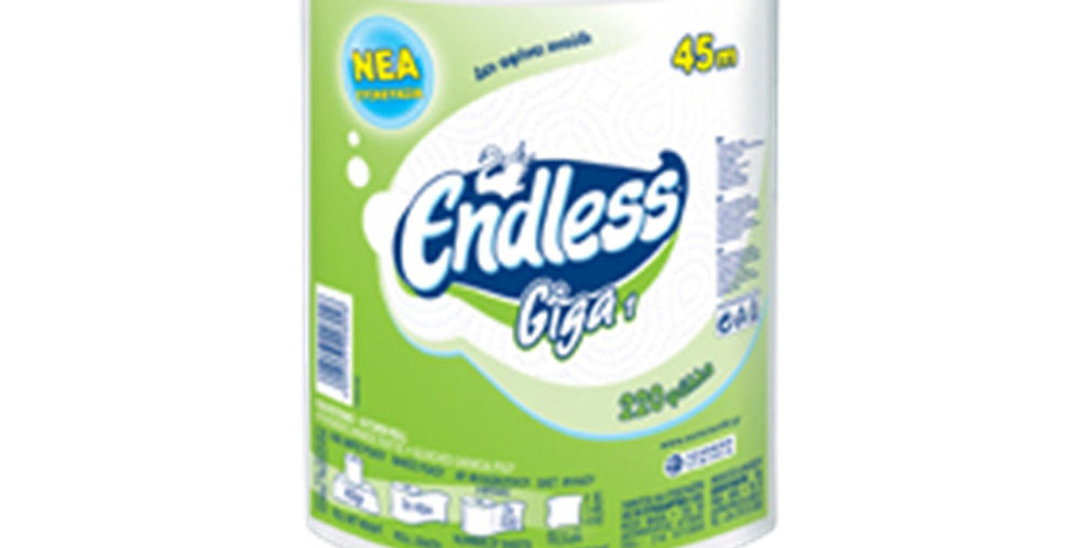 Kitchen Roll Endless, 2ply, 450gr, 220 Sheets/Roll, 45m