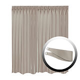 Blackout Curtain with 1 Tie, Middle Brown, 295x250cm