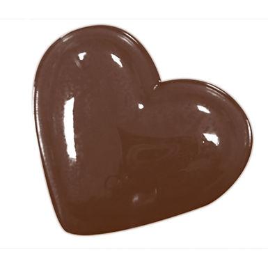 Plain Heart Mold Martellato, Thermoformed Plastic, 14 pcs, 32x27x6mm