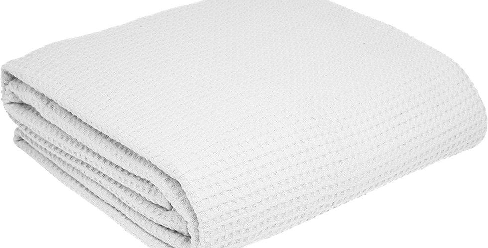 Pique Blanket Fragente, White, 100% Cotton, 230x250cm