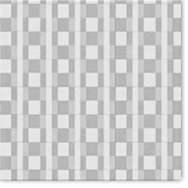 Napkin Fato Airlaid, Fabric Texture, Tartan White-Black Design, 50pcs., 40x40cm