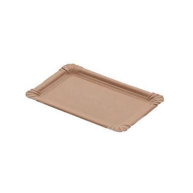 Rectangular Plate Leone, Biodegradable Virgin Fiber, 250 pcs, 13x20cm
