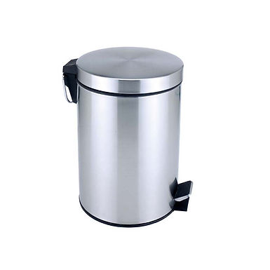 Pedal Bin, Stainless Steel, with Interior Plastic Bucket, 12L