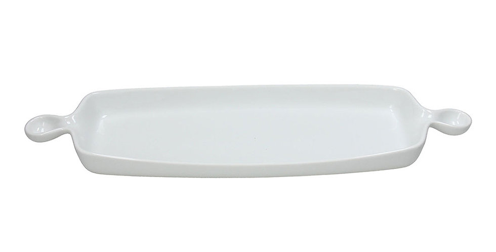 Serving Plate with 2 Handles Tognana Gourmet, Porcelain, Rectangle, 47x15cm