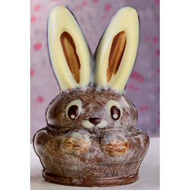 Bunny Mold Martellato 3D Easter, Thermoformed Plastic, Ø80x120x110mm