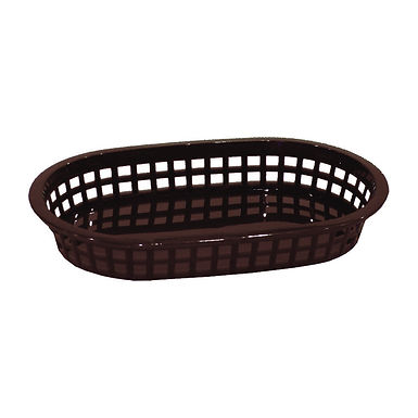 Bread Basket, Plastic, Brown, 26x18x5.5cm