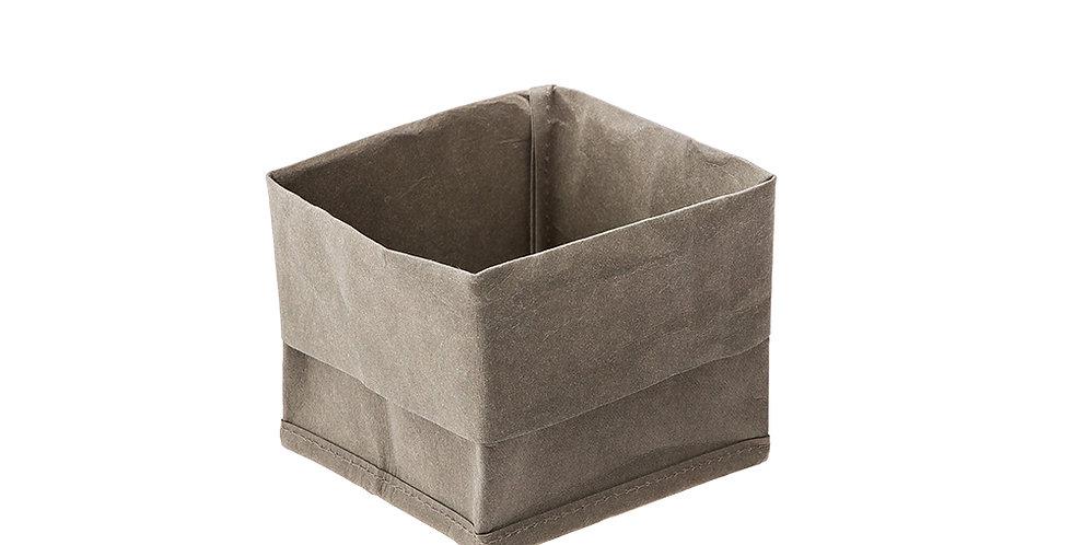 Bread Basket Leone, Paper, Green, 1 pc, 12x12x16cm