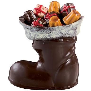 Big Boot Mold Martellato 3D Christmas, Thermoformed Plastic, 135mm
