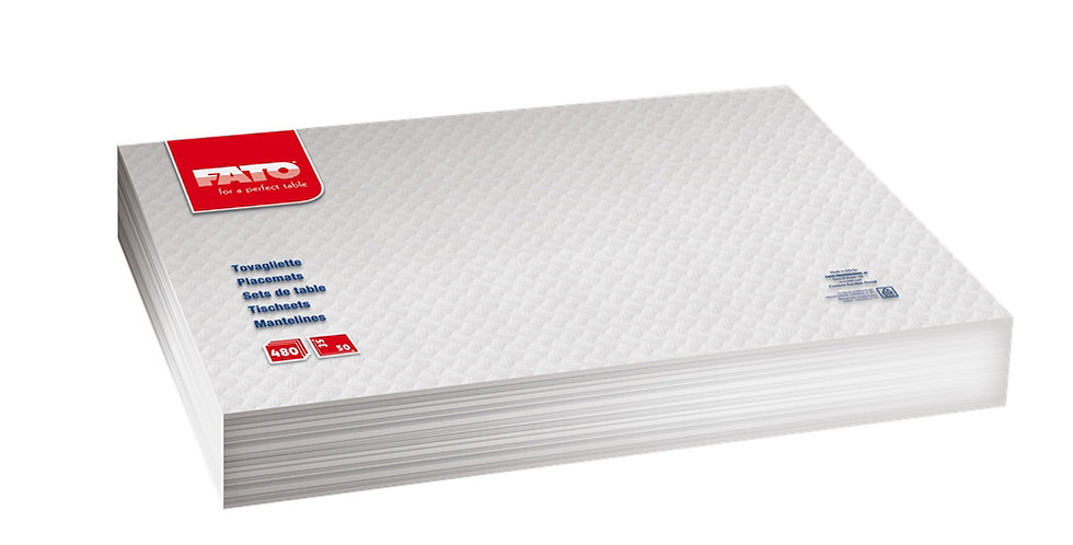 Placemat Fato, Recycled, White, 480pcs., 35x50cm