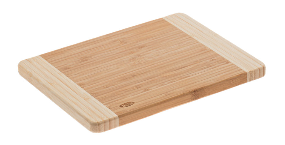 Bicolor Cutting Board Leone, Bamboo, Natural, 1 pc, 22x30x1.9cm