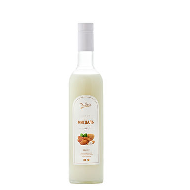 Almond Syrup Delicia, 900g Glass Bottle