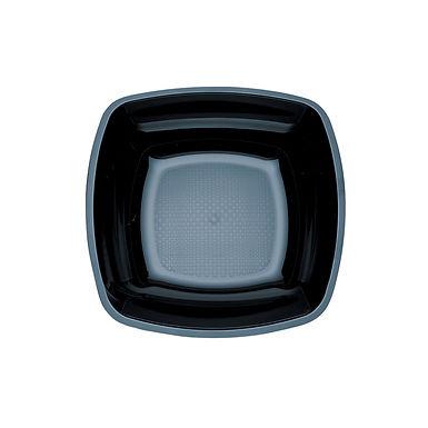Disposable Soup Plate Goldplast, Square, PS, Black, 18x18cm