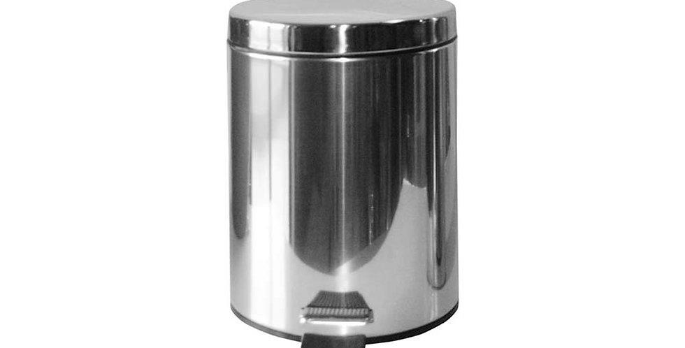 Pedal Bin, Stainless Steel, Ø20x27.5cm, 5L