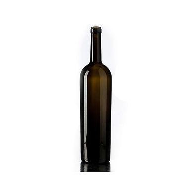 Bottle Bordolese Conica XV, Glass, Antique, 1500ml