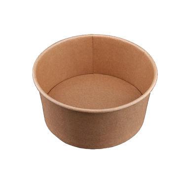 Disposable Cup for Salad, Kraft Paper, Biodegradable, Ø15x8cm, 1000ml