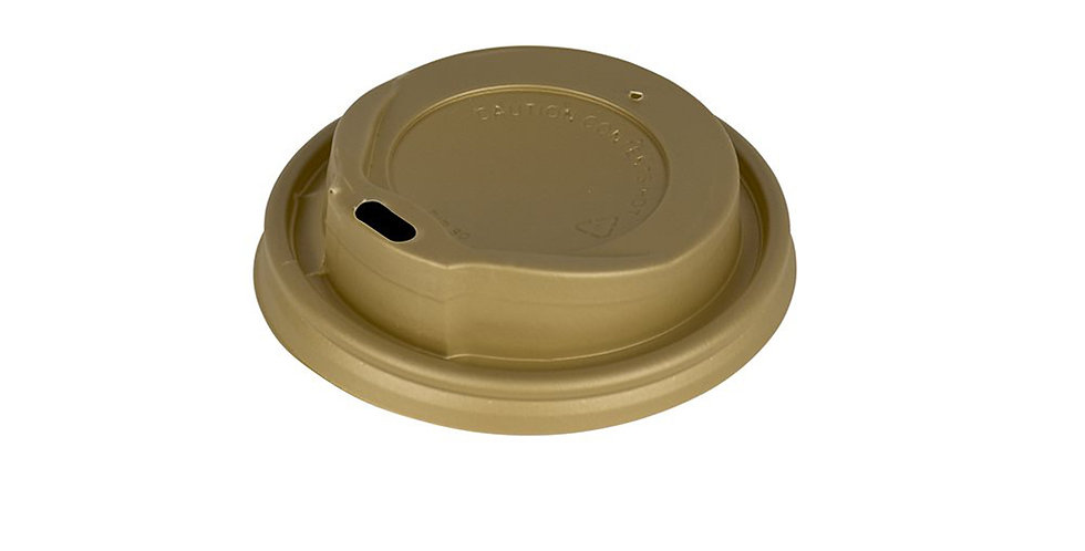 Disposable Paper Cup Lid, for 8oz Cups, Gold, Ø84mm