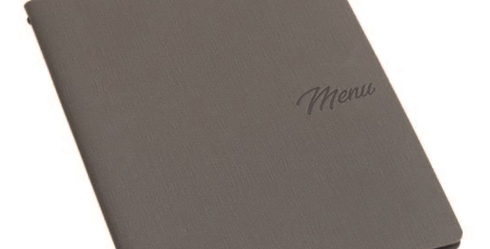 Menu Holder A4 Leone Madeira, PP, Dark Grey, 1 pc, 25x32cm