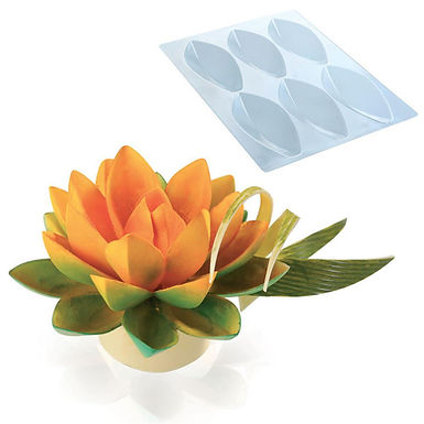 Big Lotus Flower Kit Martellato, Thermoformed Plastic, 6 pcs, 105x50x25mm