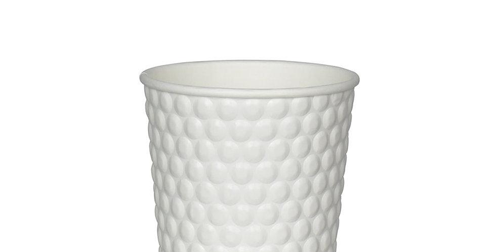 Disposable Cup, White & Bubble White, 8oz, 236ml