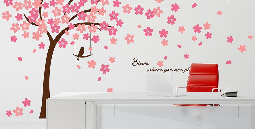 Walplus Pink Cherry Blossom WALPLUS, Sticker, 310x180cm