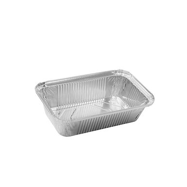 Aluminum Container for Takeaway/Delivery, 205x124x45mm, 690ml