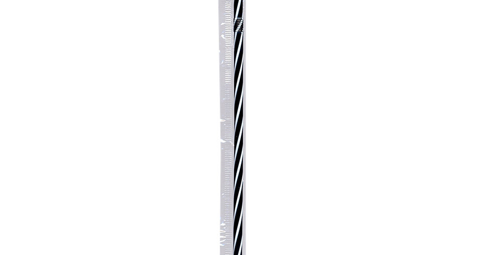 Straw, Flexible, Extreme, Black-White, Packed, 1000pcs, Ø5x240mm