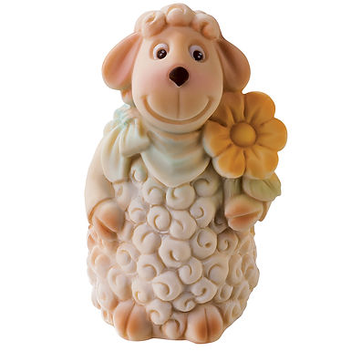 Big Sheep and Flower Mold Martellato Silicone Idea, Silicone, 80x75x130mm