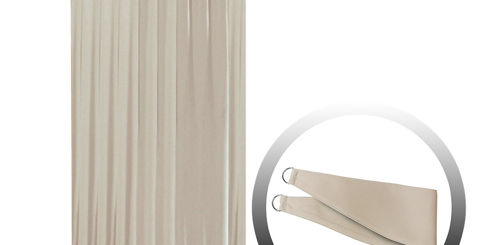 Blackout Curtain with 1 Tie, Light Brown, 144x250cm