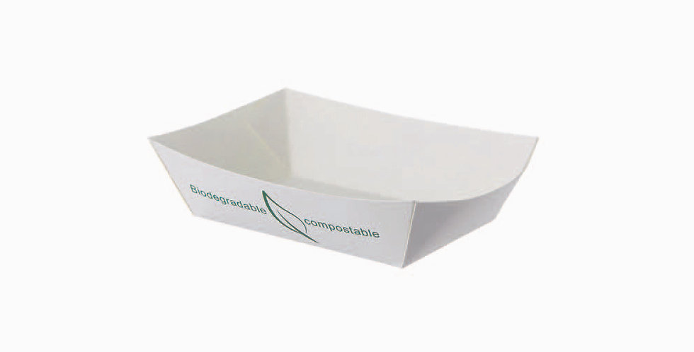 Tray Leone Street Food, Compostable Paper+PLA, 50 pcs, 11x7.5x4cm