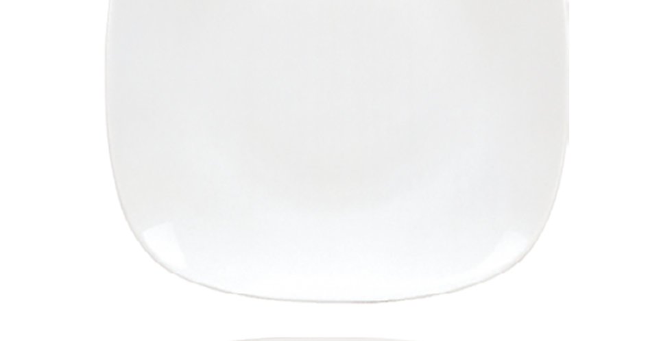 Flat Plate Gural Porselen Mimoza, Porcelain, White, 6 Sizes