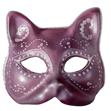 Carnival Mask Chocolate Mold Martellato, Thermoformed Plastic, 130x130x60mm