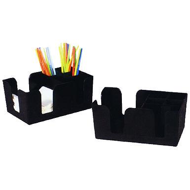 Bar Organizer, ABS, 5 Compartments, Black, 24x15x11cm