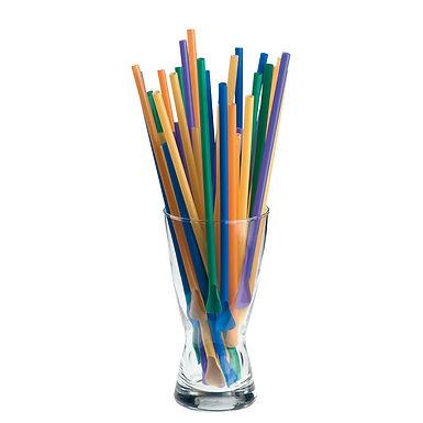 Spoon Straws Leone, PP, Mixed Colors, 1000 pcs, Ø5mm, 24cm