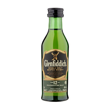 Glenfiddich 12 Years Old Scotch Whisky, 50ml