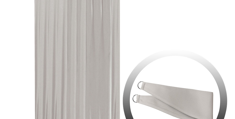 Blackout Curtain with 1 Tie, Light Gray, 144x250cm