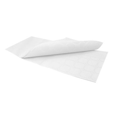 Disposable Tablecloth Fato Damask, Embossed Texture, White, 1x1m