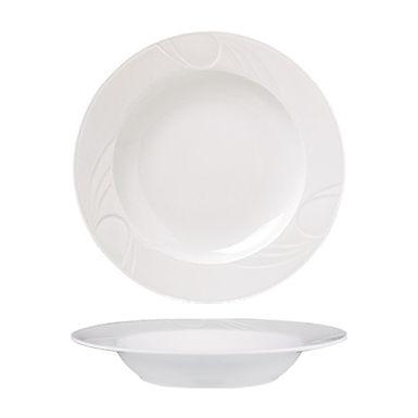 Deep Plate Gural Porselen Karizma, Porcelain, White, 22cm