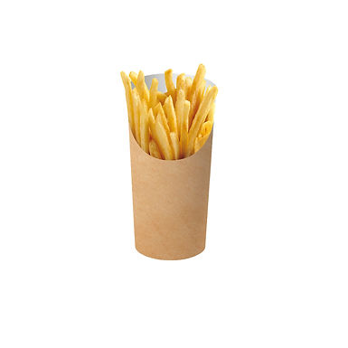 Disposable Paper Pack for Fries, Kraft, Ø7.4x11.4cm