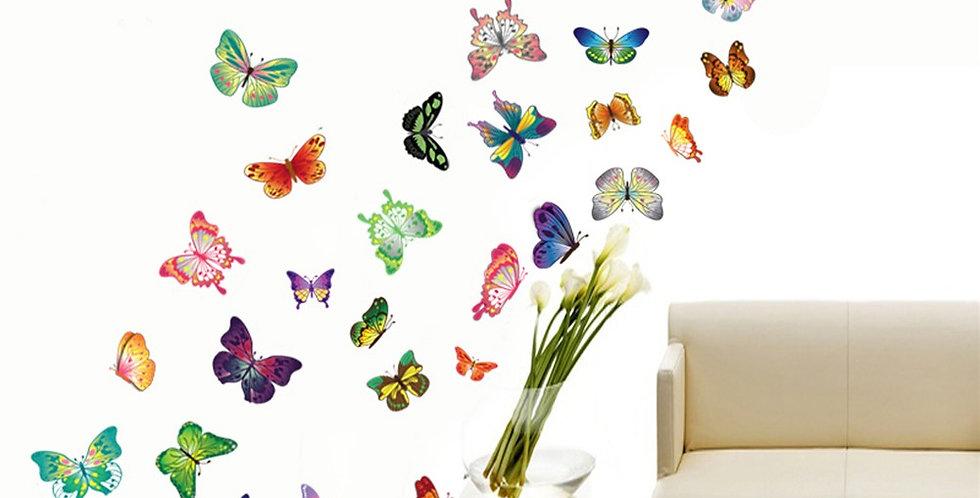 Butterflies WALPLUS, Sticker, 100x100cm