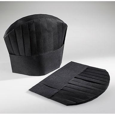 Black Chef Hat Leone, TNT, 25 pcs, 28.5x24cm
