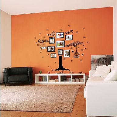 Huge Family Tree Photo Frames Birdcage WALPLUS, Sticker, 106x90cm