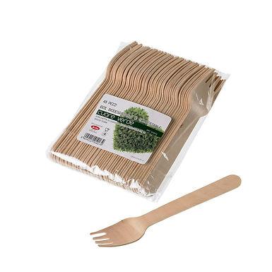 Fork Leone, Biodegradable Birch Wood, 48 pcs, 16cm